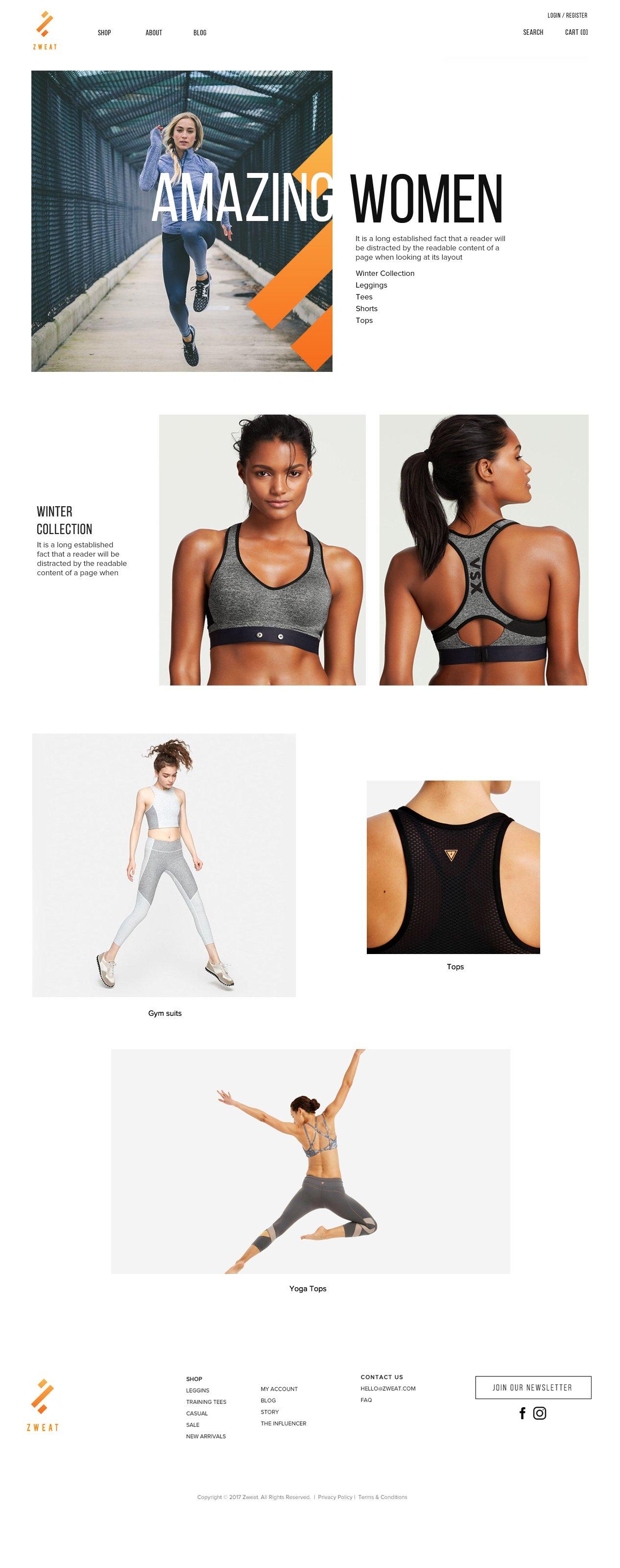 sportswear-ui-design