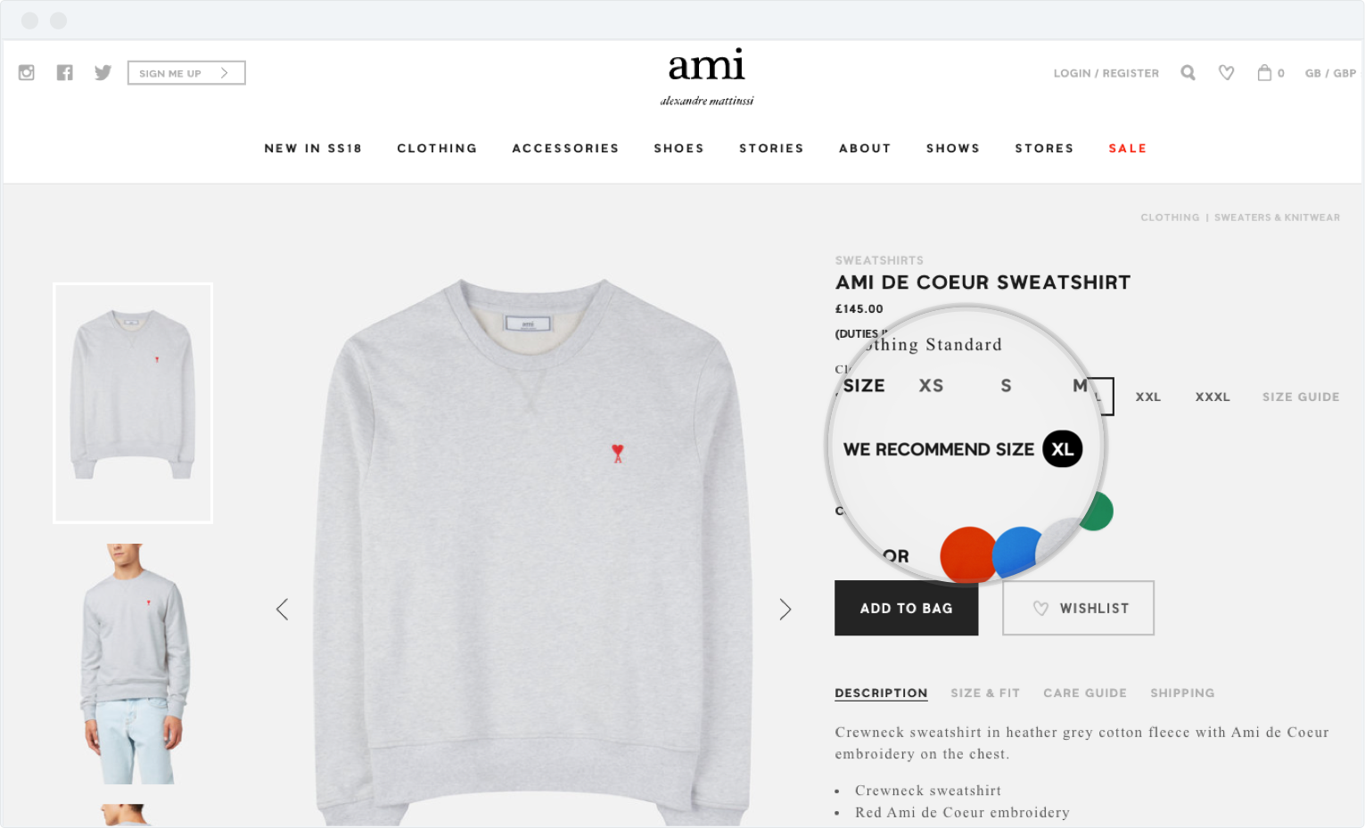 promo code 7598a e779e Ami Paris uses EASYSIZE – a size recommendation tool. After integrating  your website with this ecommerce size tool, you can pre-select the right  size or ...