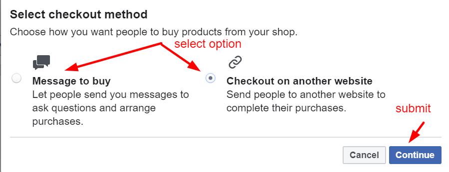 facebook shops chooose store