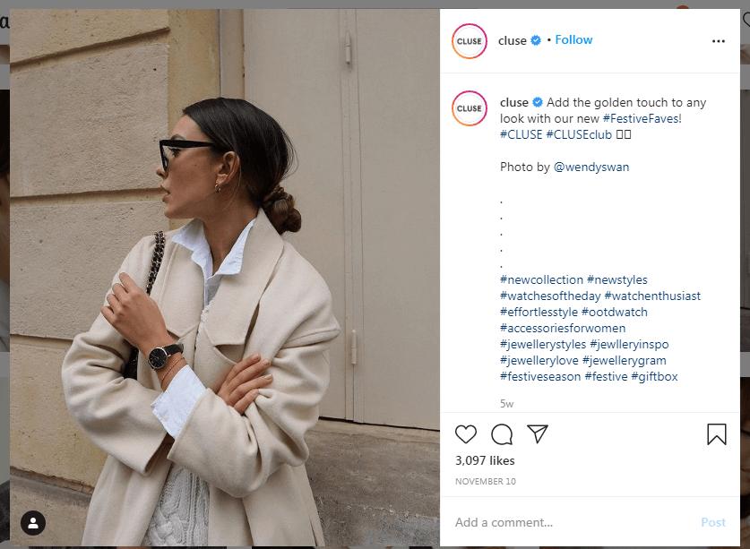 Instagram cluse User Generated Content