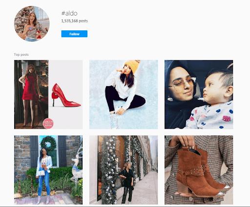 instagram ALDO User Generated Content